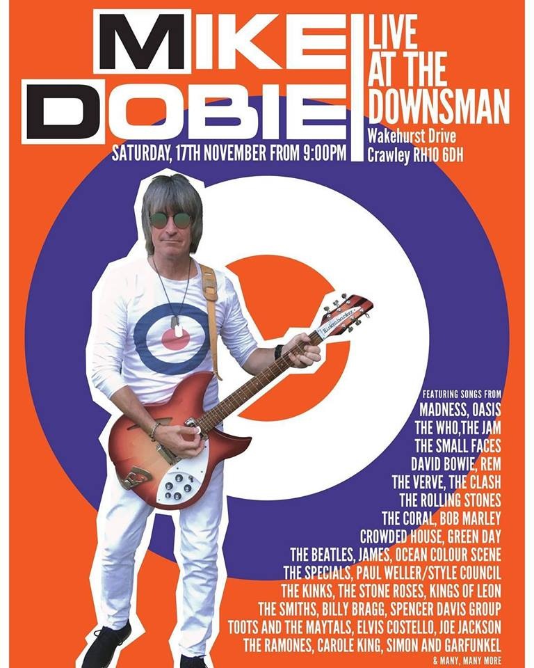 Mike Dobie Live | Saturday 17th November | From 9PM