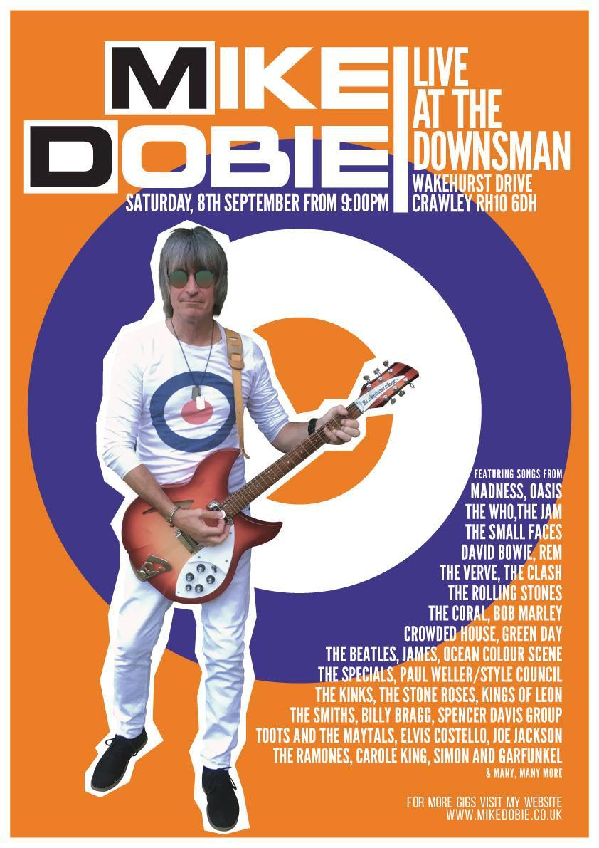 MIKE DOBIE LIVE | SATURDAY 8TH SEPTEMBER 2018