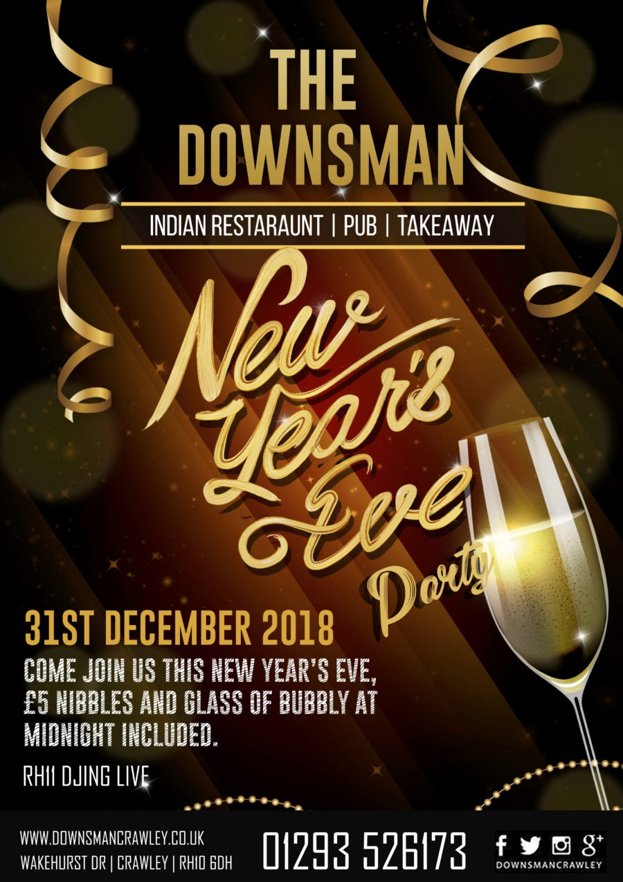 NEW YEARS EVE @ THE DOWNSMAN