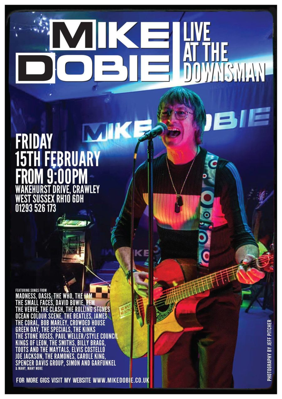 Mike Dobie Live Friday 15th February from 9PM