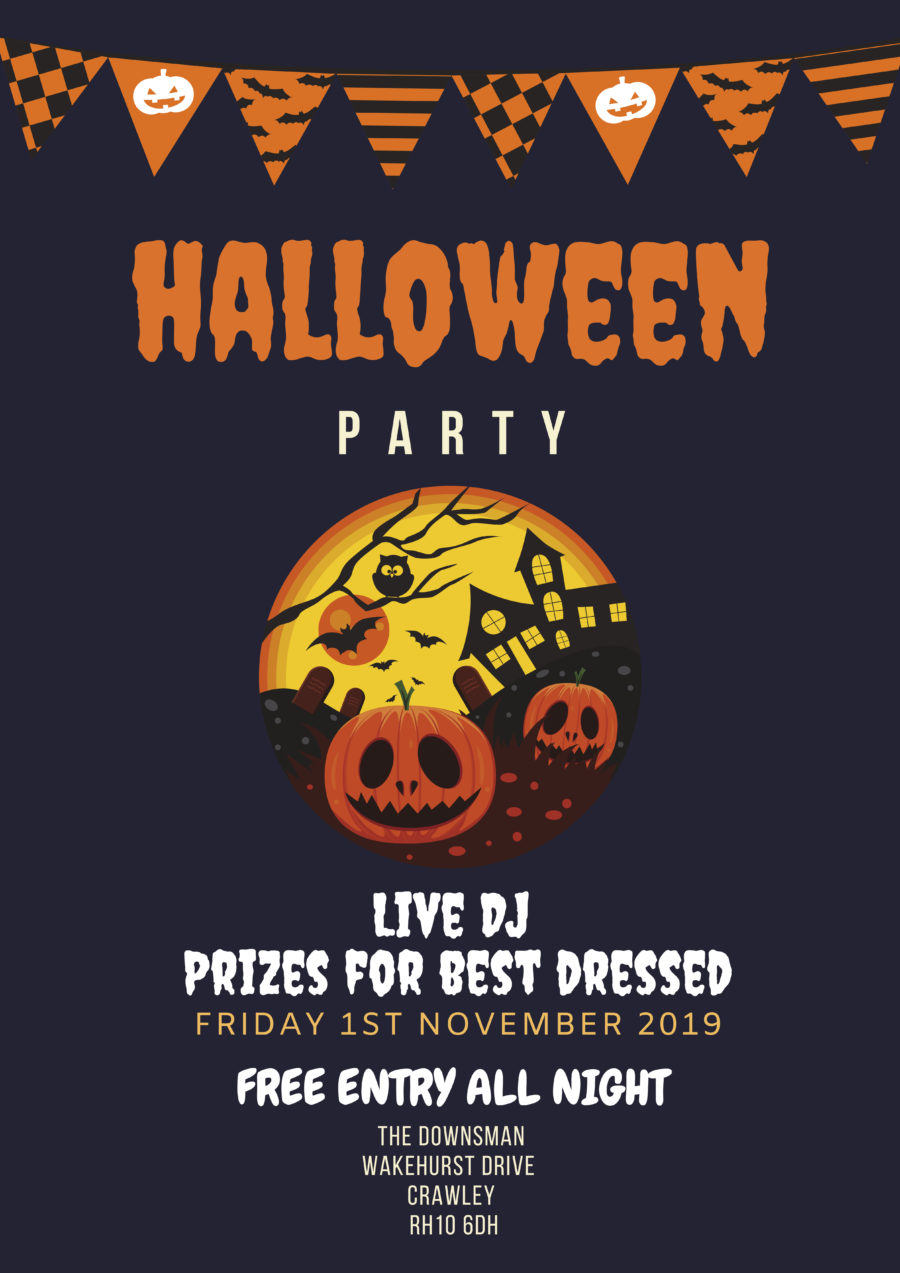 Halloween Party | Live DJ | Prizes for best dressed | Friday 1st November 2019